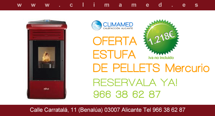 Estufas climamed page 6 for Oferta estufa pellets