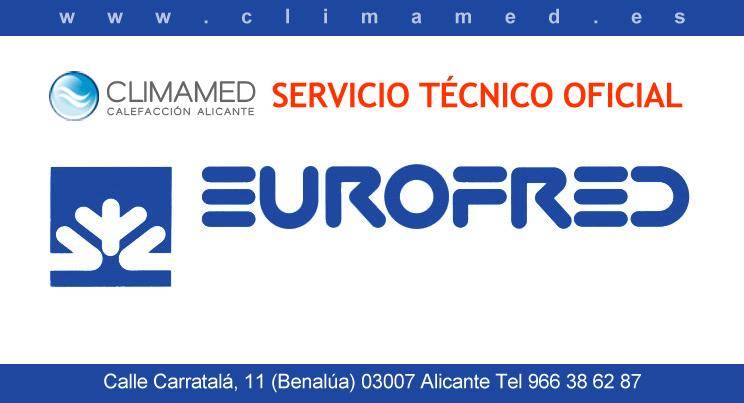 Servicio técnico oficial Eurofred en Alicante