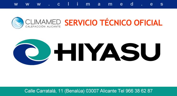 Servicio técnico oficial aire acondicionado Hiyasu