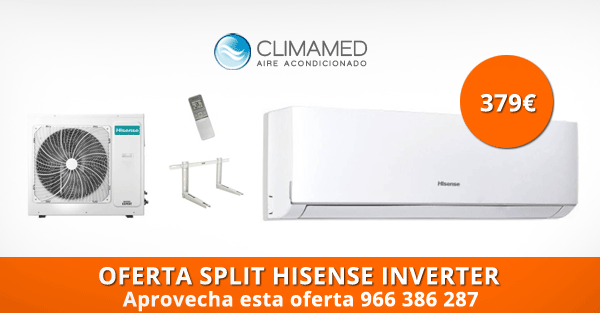 Oferta Split pared Hisense Alicante