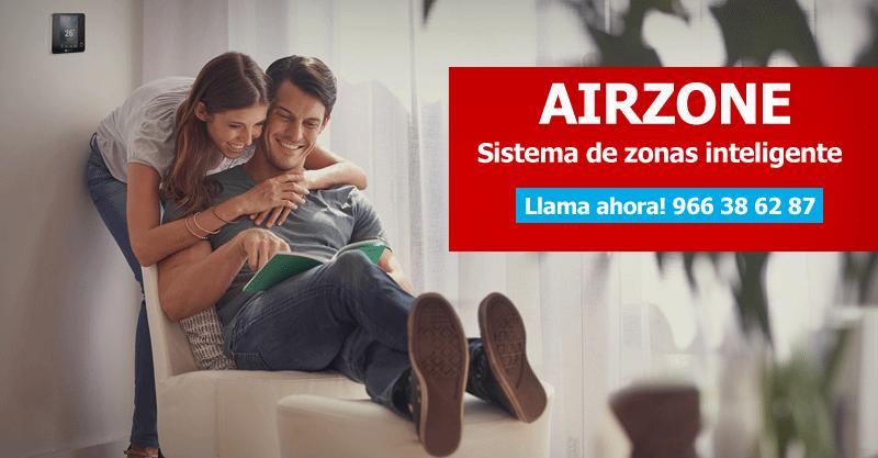Airzone sistema de zonas inteligente Alicante
