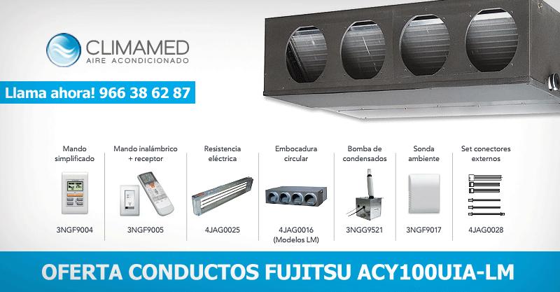 Oferta aire acondicionado conductos FUJITSU ACY100UIA-LM